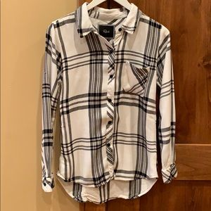 Black + White Rails Flannel